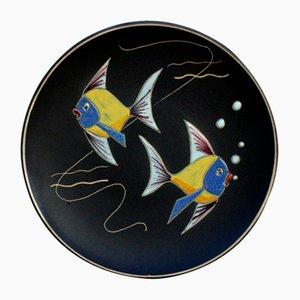 Piatto da parete Ruscha in ceramica e ceramica