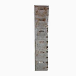 Vintage Spind aus Stahl mit 6 Fächern