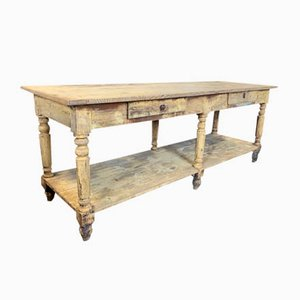 Antique Pine Drapers Table