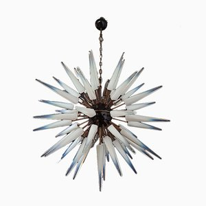 Murano Glass Sputnik Opalino Chandelier with 51 Glasses