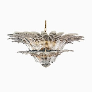Murano Palmette Chandelier with Transparent Glass