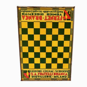 Fernet Branca Game of Checkers, 1930s