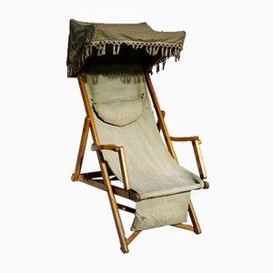 Edwardian Military Canopy Deck Chair