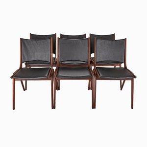 Teak Chairs from Brahmin, Denmark, 1960s, Set of 6