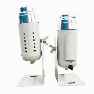 Industrial Style Table Lamps, 1960s, Set of 2