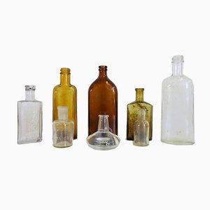 Pharmacy Glass Flasks, 1930s, Set of 8