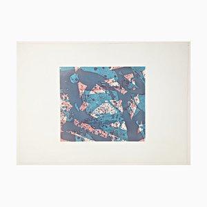 Sam Francis Lachs, 1973, handsigniert und limitierte abstrakte Farbradierung und Aquatinta