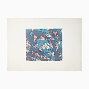 Sam Francis Salmon, 1973, Hand Signed and Limited Abstract Color Etching and Aquatint