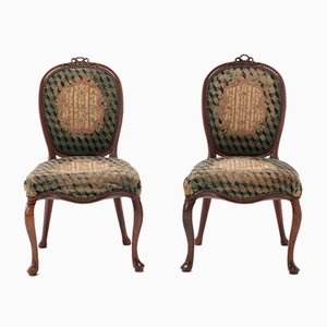 18th Century Dutch Mahogany Side Chairs, Set of 2