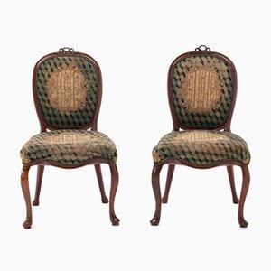 Niederländische Beistellstühle aus Mahagoni, 18. Jh., 2er Set