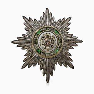 Estrella de San Estanislao rusa de plata y esmalte, década de 1900