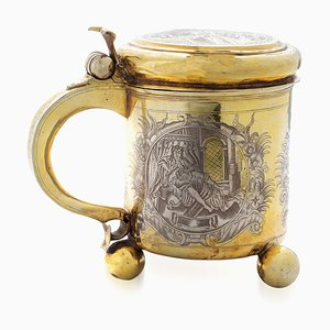 18th Century Russian Silver-Gilt Tankard, Moscow, 1745s