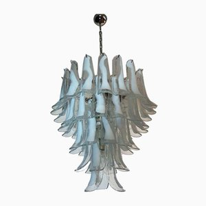 Vintage Italian Murano Chandelier with 52 Glass Petals in the Style of Mazzega, 1980s