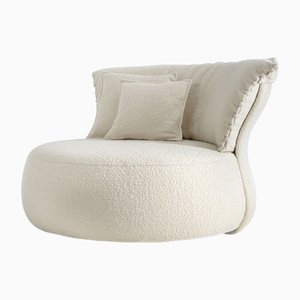 Cannes Circular Sofa in Off-White Fabric by Claudio Cappellini for Hessentia