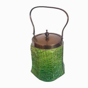 Art Nouveau Iridescent Glass Biscuit Box