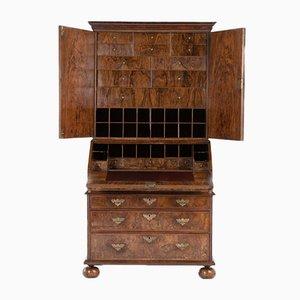 17th Century William and Mary Period Bureau Cabinet in Walnut
