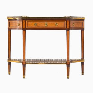 19th Century French Mahogany and Satinwood Console Table