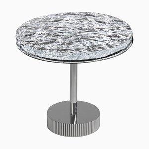 Miller Beistelltisch mit Glasplatte und verchromtem Metallgestell von Claudio Cappellini für Hessentia