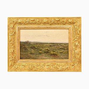 Antique Painting, Landscape Painting, the Moor Painting, Didier Pouget, Xix Century.