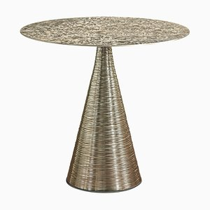 Kevin Side Table in Frosted Brass by Claudio Cappellini for Hessentia
