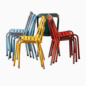 T4 Garden Chairs by Xavier Pauchard for Tolix, Set of 12