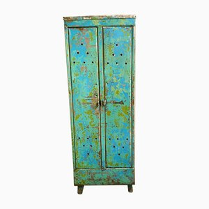 Vintage Locker in Blue and Green