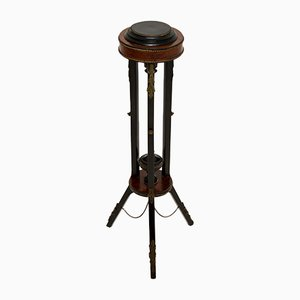 Antique French Ebonised Walnut Plant Stand or Torchere