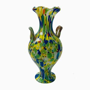 Vintage Handcrafted Murano Glass Amphora from Fratelli Toso, 1970s