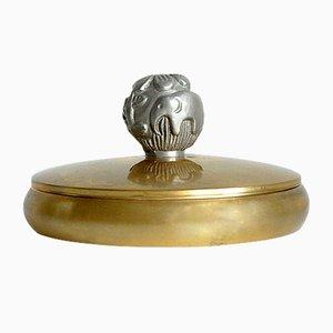 Brass Jar by Carl Einar Borgström for Ystad-Metall, 1930s