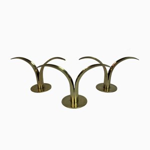 Candleholders by I. Ålenius Björk for Ystad-Metall, Sweden, 1950s, Set of 3
