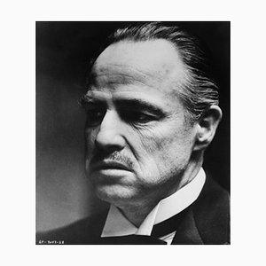 Don Vito Corleone Archival Pigment Print Framed in White by Bettmann