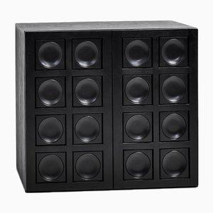 Brutalist Black Cabinet
