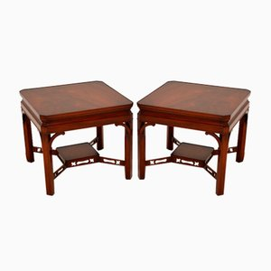 Antique Georgian Style Side Tables, Set of 2