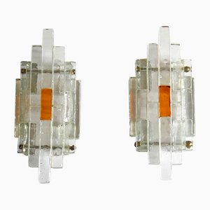 Ambrosia Wall Lamps by Albano Poli for Poliarte, Italy, 1960s, Set of 2
