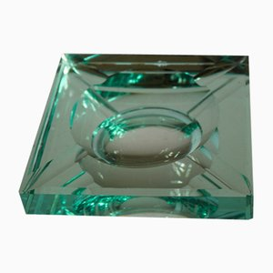 Art Deco Mirrored Cut Glass Ashtray by Jean Luce for Saint Gobain, France