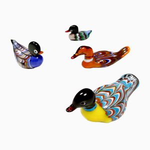 Colorful Murano Glass Ducks, Italy, 1960s, Set of 4