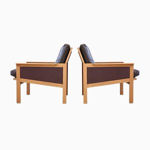 Mid-Century Leather Easy Chair by Illum Wikkelsø for Niels Eilersen