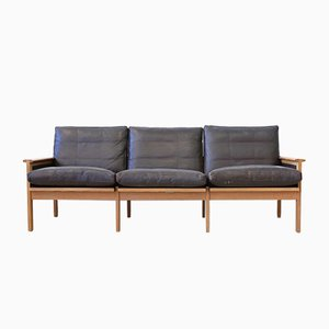 Mid-Century Leather Sofa by Illum Wikkelsø for Niels Eilersen