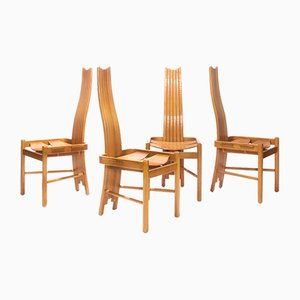 Vintage Brutalist Dining Chairs, 1970s, Set of 4