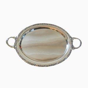 Large Handmade Sterling Silver Platter, 1930s