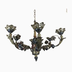 Chandelier with Sheet Metal, 18th-Century