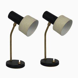 Mid-Century Italian Adjustable Cone Table Lamps, Set of 2