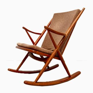 Danish Teak Rocking Chair by Frank Reenskaug for Bramin, 1960s