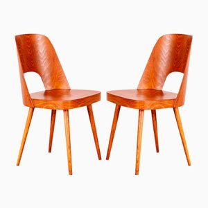 Dining Chairs by Oswald Haerdtl for TON, Set of 2