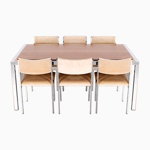 Dining Table & Chairs from Girsberger, Set of 7