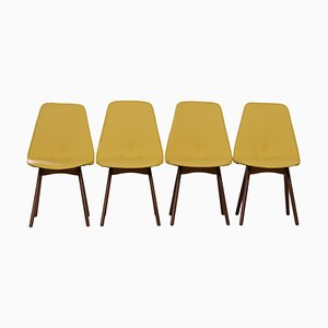 Yellow Teak Dining Chairs by Van Os, 1950s, Set of 4
