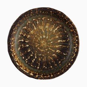 Runde Schale aus glasiertem Steingut von Gunnar Nylund für Rörstrand, 1904-1997