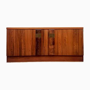 Mid-Century Rosewood Media Unit Sideboard by Nils Jonsson for Troeds