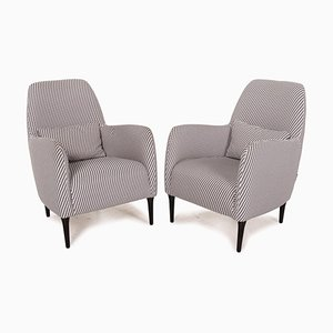 Black and White Checkered Armchairs by Habitat Daborn, Set of 2