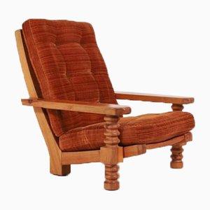Swedish Pine Frame Lounge Chair, 1960s